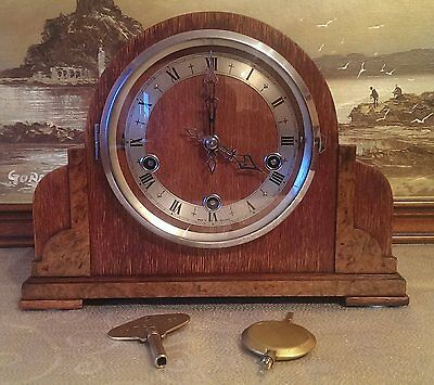 "Enfield ""Chandos"" Westminster & Whittington Chiming Mantel Clock- Serviced & GWO"