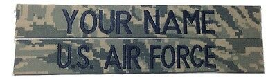 2 piece ABU Custom Name & US Air Force Tape, Sew-On - US Air Force USAF Military