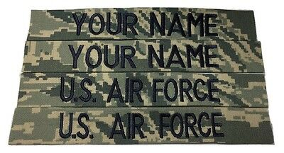 4 piece ABU Custom Name & US Air Force Tape, Sew-On - US Air Force USAF Military