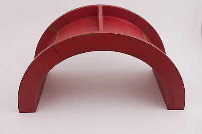 Wooden Red Arch Industrial Primitive Foundry Mold Pattern Steampunk (IL1-M1)