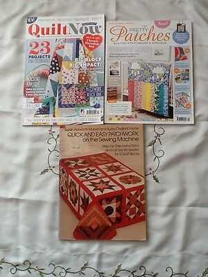 3 Quilt & Patchwork and Quilting Magazines Lots of Quilts bags cushion Patterns