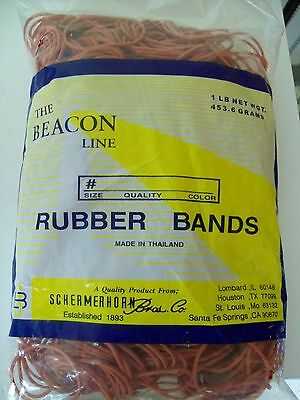 1 Pound Beacon Line Red Rubber Bands