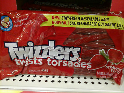 Twizzlers Twists Strawberry Candy 454g