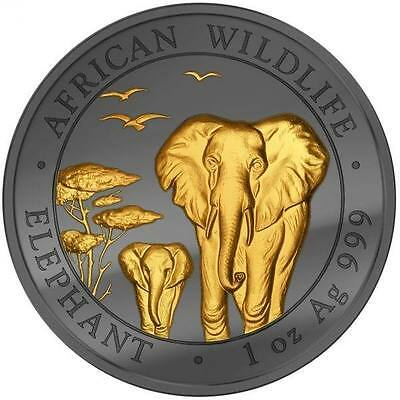 1 oz Somalia Elefant Elephant Golden Enigma Edition 100 Shilllings 2015 Silber
