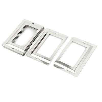 Uxcell Post Office Library File Drawer Metal Tag Label Holder, Silver Tone, 10 P