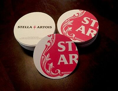 """Stella Artois   Beer Coasters  You Receive """"20"""" Coasters.  Free Shipping"""