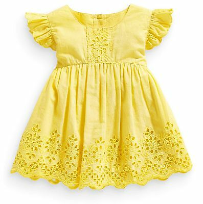 ВNWT NEXT Girls Tunic • Yellow Broderie Lace Blouse • 100% Cotton • 3-6 Months