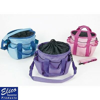Elico Equestrian Canvas Bag/Grooming Kit Bag – BLUE PURPLE PINK – FREE P&P