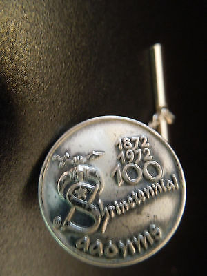 Vintage Shrinetennial 1872-1972 100 Sterling Silver Tie Tack AAONMS