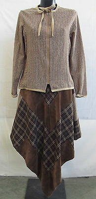 vintage 1980 MADE IN ITALY size S Wolle und Leder (WWH.4)de