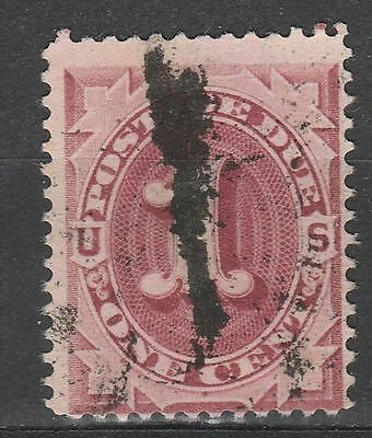 USA Scott #  J 22 Postage Due 1 Cent Bright Claret used (J22-1)