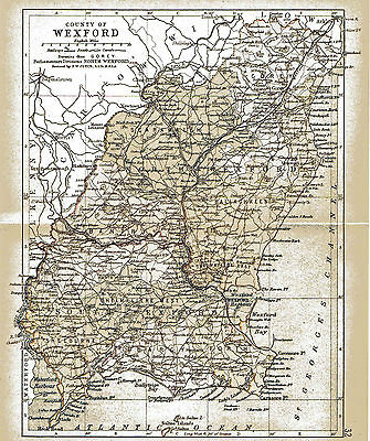 Three antique maps of County Wexford and Ireland and a Leinster fact sheet.