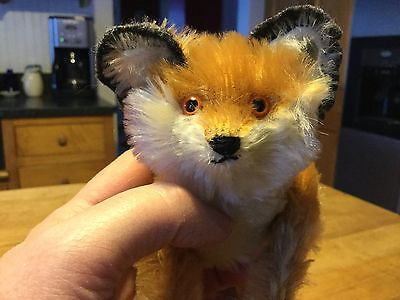 STEIFF 5-way Jointed FOX 0093/12, 1910 REPLICA EAN 400582 Excellent Condition