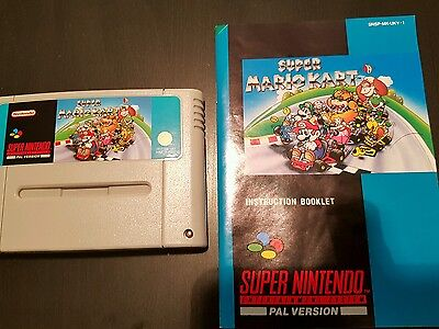Super Mario Kart Super Nintendo Game Uk Pal