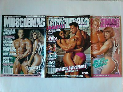 Robert Kennedy's Musclemag International Bodybuilding mags x 3 (1990s)