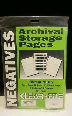 Clear File Archival 35mm Negative Storage Saver 10 pack