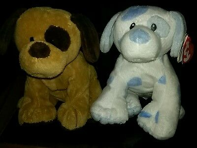 TY Pluffies dogs Baby Pups & Barkers set