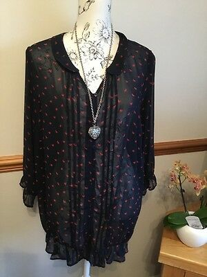 Next Maternity Heart Blouse Top Size Large