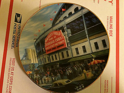 vintage 1993 CHICAGO CUBS WRIGLEY FIELD PLATE COLLECTIBLE numbered Henderson