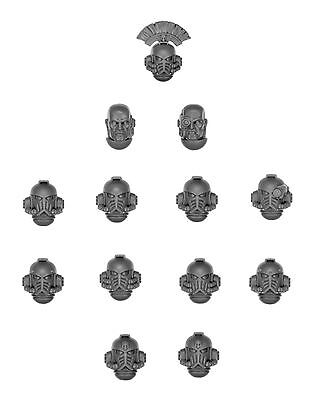 Games Workshop Bits - Betrayal of Calth Space Marine Heads (13 Pieces)