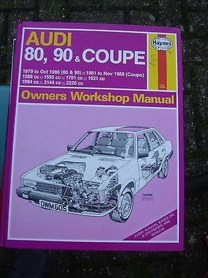 Audi 80, 90 and Coupe 1979-86 Haynes Owner's Workshop Manual