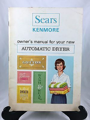 Vintage - Sears - Kenmore - Automatic Dryer Manual (1964)