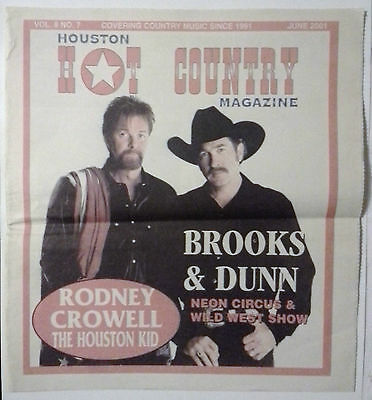 Houston Hot Country Newspaper Magazine-Brooks&Dunn-2001 Country & Western