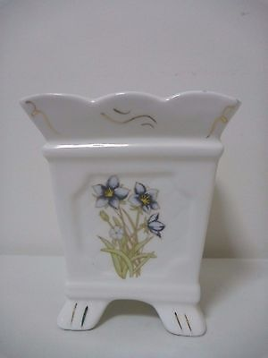 4 footed square flower pot