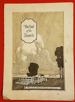 1928 Bates Steel Mule Tractor Catalog Brochure Vintage Farm Implements