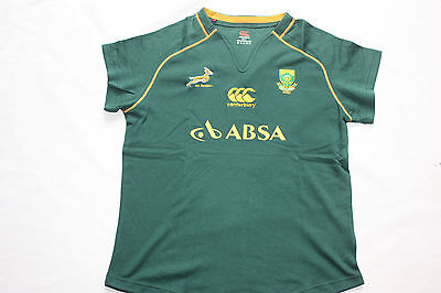 Canterbury South Africa Springboks Rugby Home Womens Ladies Tee Shirt, sizes 18