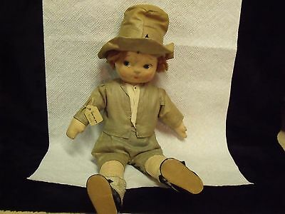 "Rare  13"" Antique Hand Sewn And Hand Painted German Karl Doll"