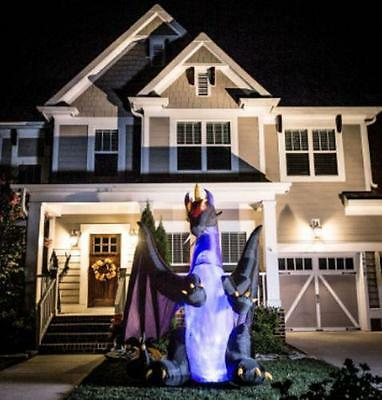8' Animatronic Lighted Inflatable Dragon Halloween Airblown Inflatable Outdoor