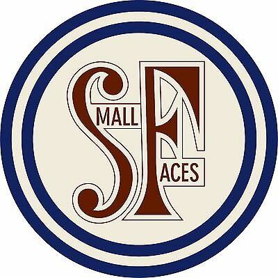 Small Faces circular vinyl sticker Mod Kinks The Who scootering 120mm 1960s