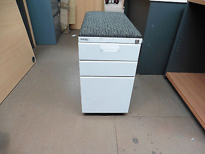 Office Mobile 3 X Drawer Silver Brisbane
