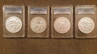 4 x 5 oz USA Coins, Theodore Roosevelt, Harpers Ferry, Shawnee PCGS GRADED