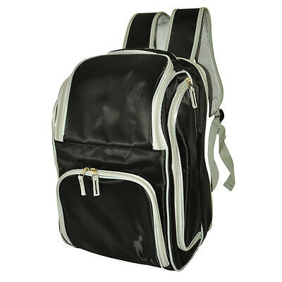 4 Person Picnic Back Pack | Incl. Accessories | Insulated | Black