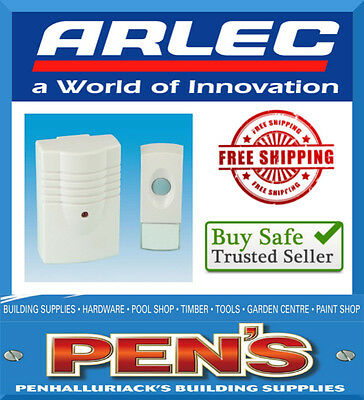 Arlec Compact Wireless Door Chime 50 Meter Range DC180