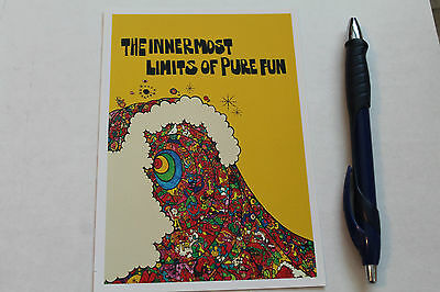 Surfing INNERMOST LIMITS OF PURE FUN  George Greenough Surf Video flyer 5x7n.