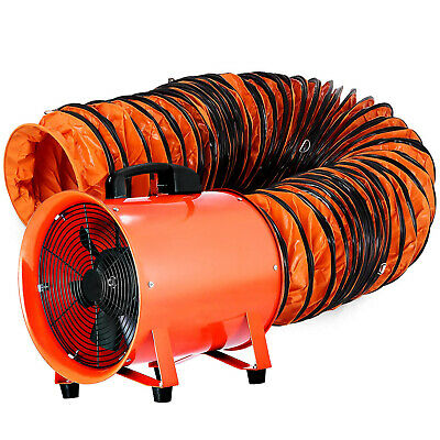 250mm Industrial Extraction Fan + 5m Hose Ventilator Blower Spray Paint Workshop