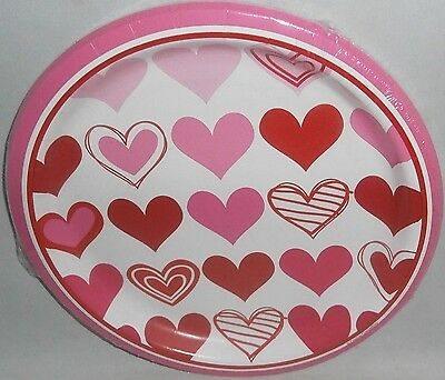"""VALENTINE'S DAY Paper Plates 8 ct   8 3/4"""" Plates  OMBRE HEARTS"""