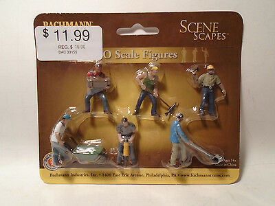 Bachmann #33155 6 O Scale Construction Workers New In Package