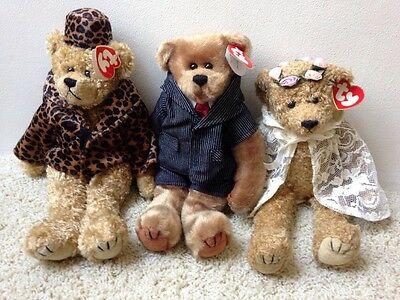 NWT but Retired from 1993 LOT Ty Buddy BEARS: Isabella William & Eve Buddies