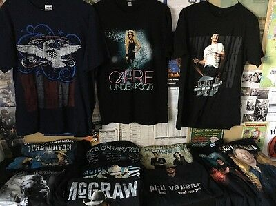 Lot of (17) COUNTRY MUSIC STARS CONCERT SHIRTS ALL ADULT SIZES