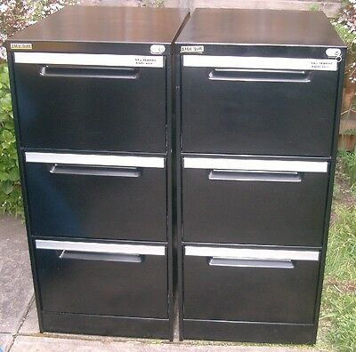 Black Anti-tilt Heavy Duty 3 drawer FILING CABINET  (we have a few available)