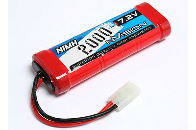 New nVision 7.2v 2000Mah NiMH Rechargeable Battery for Remote Control Car