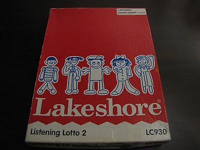 Lakeshore Listening Loto LC930 Audio Cassette Interactive Learning Homeschoolers