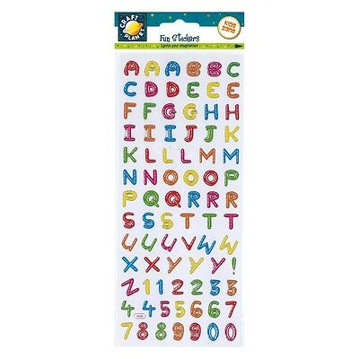 Craft Planet Fun Multi-Coloured Alphabet Capital Letters & Numbers Stickers A27