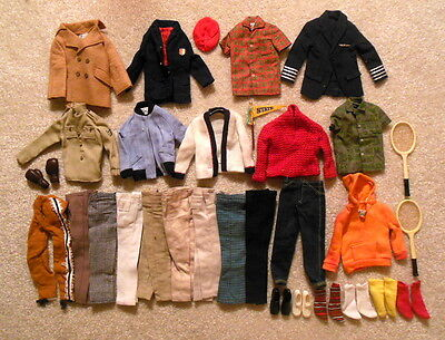 Vintage 1960s Mattel Barbie Lot of Ken Clothes and Accessories - Nice Selection