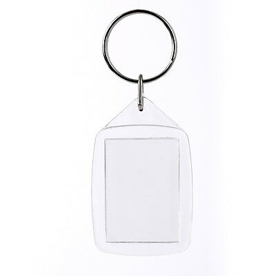 5 PCS PLASTIC Clear Blank Photo Picture Frame Gifts Keyring