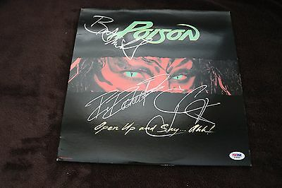 RARE POISON Open Up And Say... Ahh signed PSA Cert - STUNNING EYE APPEAL RARE!